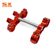 Motorcycle Orange Triple Tree Clamps Steering Stem And Bar Mount For KTM SX SXF EXC XCW XCFW EXCF 125 250 350 450 530 2000 2014