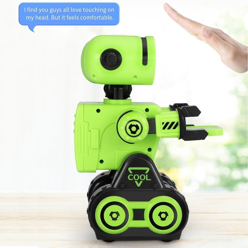 CADY WIRI R13 JJRC RC Robô Inteligente Sensível Ao Toque Programável Controle de Registro de Mensagem de Voz Cantar Dança Robôs de Brinquedo Para Presente Das Crianças VS R4 - 4