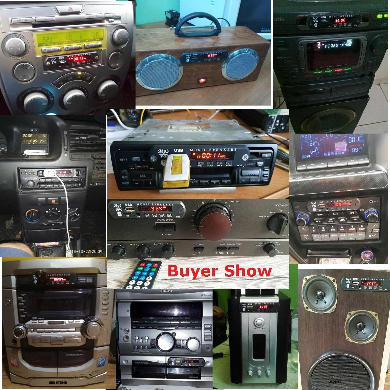 دروبشيب سيارة بلوتوث MP3 WMA USB/TF/FM/AUX فك مجلس لوحة 5V 12V وحدة صوت سيارة MP3 الملحقات اللغة شاشة ملونة