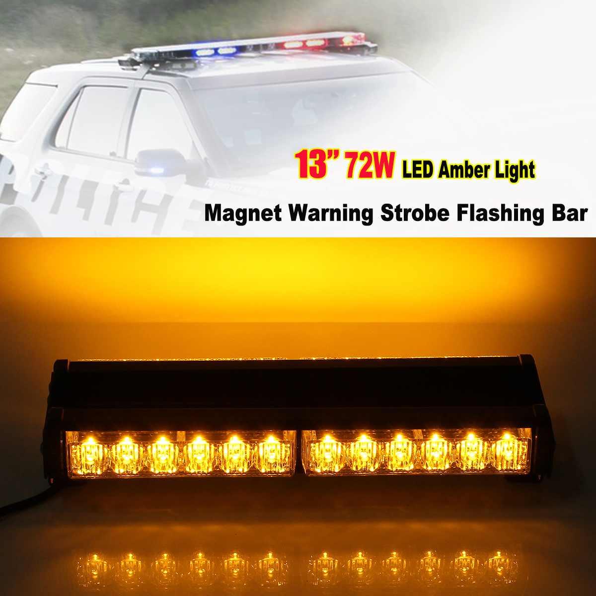 13 Zoll 24led Law Durchsetzung Notfall Warn Blinkende Auto Lkw Bau Top Dach Mini Bar Strobe Licht Auto Styling Novel (In) Design;