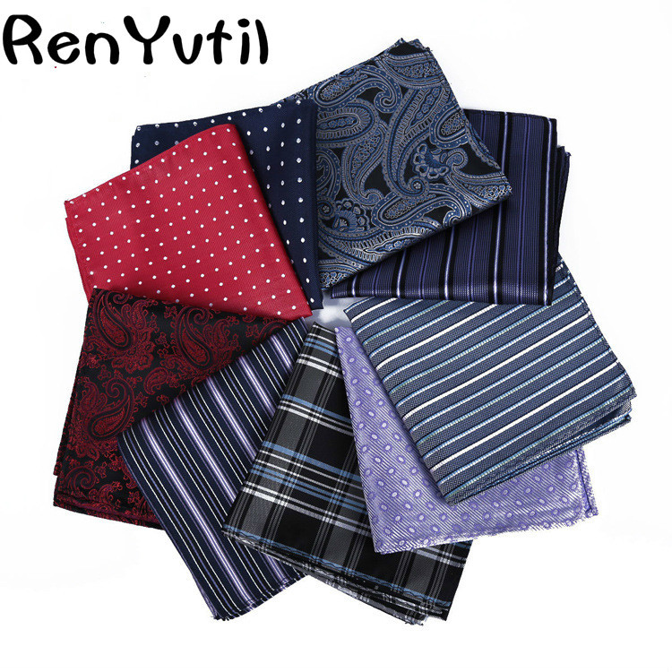 2019 Luxury Men's Handkerchief Vintage Floral Pocket Square Soft Hankies Wedding Party Business Flower Chest Towel Gift 28*29CM