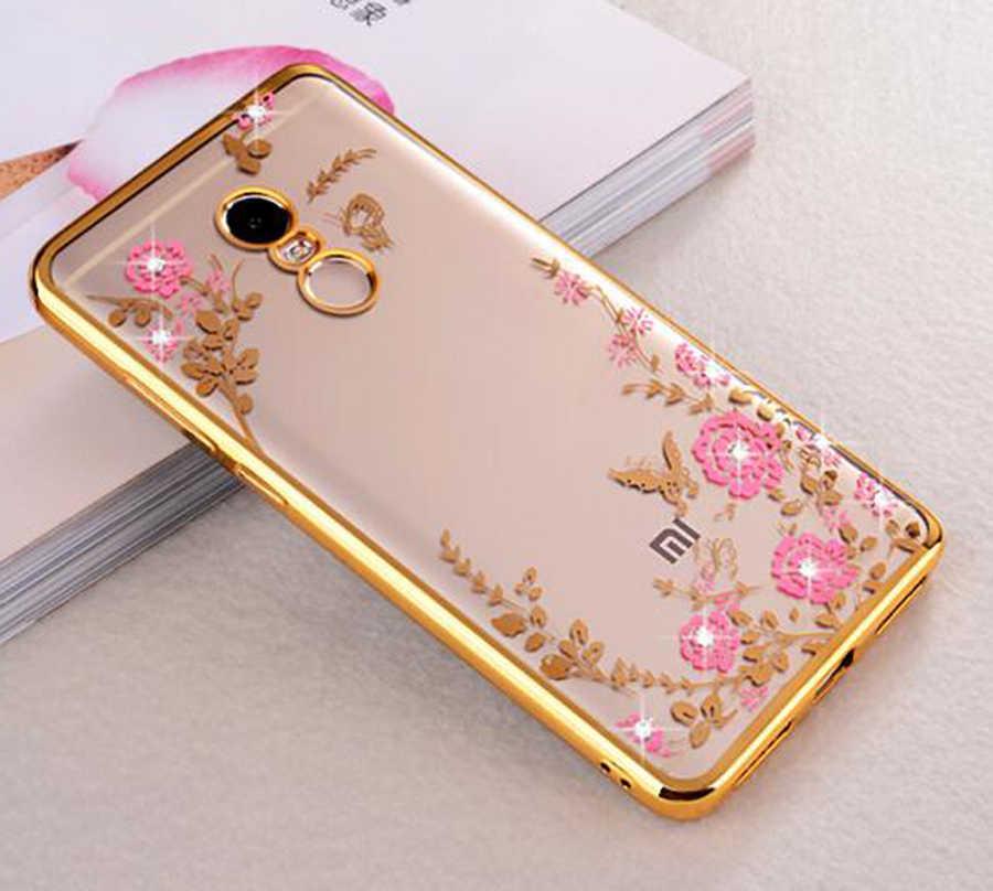 Flower Diamond Soft TPU Phone Case for Xiaomi Mi A2 Lite Redmi 6 6A 5 5A 5Plus Note7 Pro Note 6 Pro 5A 5 Pro 4X 32GB 64GB Cover