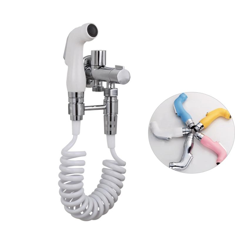Handheld Toilet Bidet Sprayer Set Hand Bidet Faucet For Bathroom Hand Sprayer Shower Head Self Hygiene Cleaning