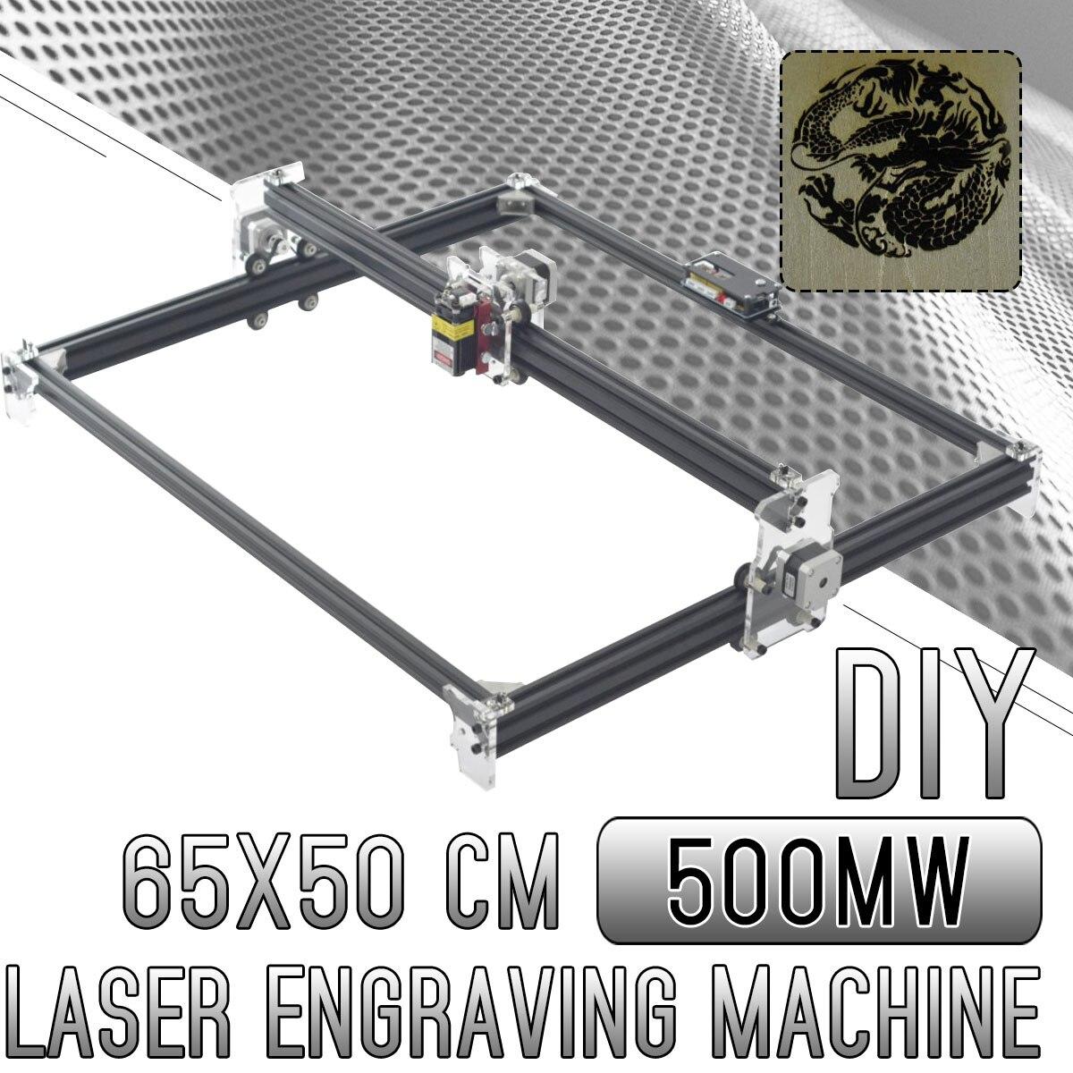 500 mw Mini CNC bricolage maison gravure Machine Laser gravure 65*50 CM 2 axes 12 V CNC Machine bois routeur outils nouveauté 2019