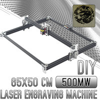 500mw Mini CNC DIY Home Engraving Machine Laser Engraving 65*50CM 2Axis 12V CNC Machine Wood Router Tools New Arrival 2019