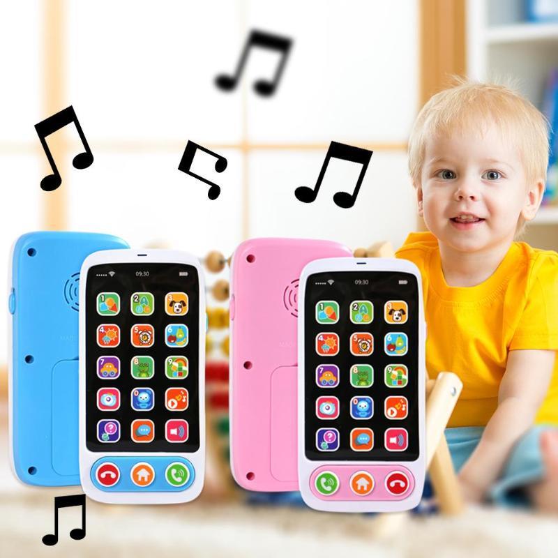 English Language Kids Simulation Mobile Phone Toy Children's Educational Simulation Music Mobile Phone Toy Children Gift