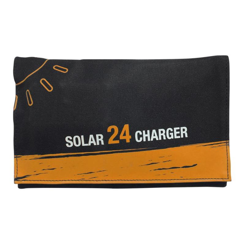 $31.19 24/16/15W Portable Folding Solar PanelCharger Mobile Power Bank for iPhone Samsung Phone Battery Dual USB Port Outdoor