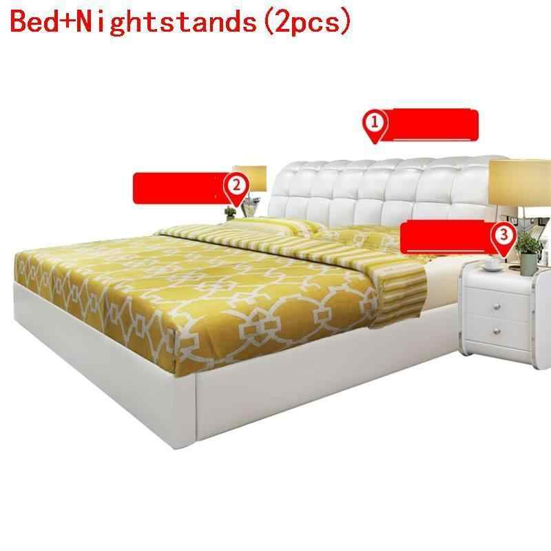 Matrimonio Mobili Per La Casa Letto Matrimoniale Lit Enfant Leather Moderna Cama bedroom Furniture Mueble De Dormitorio Bed