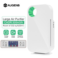 AUGIENB HEPA Filter Home Air Purifier 5 Stage Odor Allergies Eliminator for PM2.5 Smoke Dust Mold with Air Quality Indicator