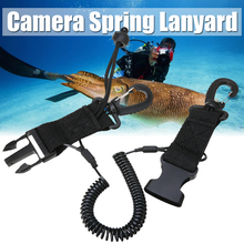 Mayitr 1 pcs Lanyard Spring Coil  Diving Dive Camera Scuba With Quick Release Buckle and Clips for Outdoor