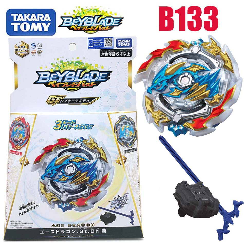 Takara Tomy beyblade rafale b133 Saint-empereur-Dragon Gyroscope explosif rotatif à trois transformations bayblade B133