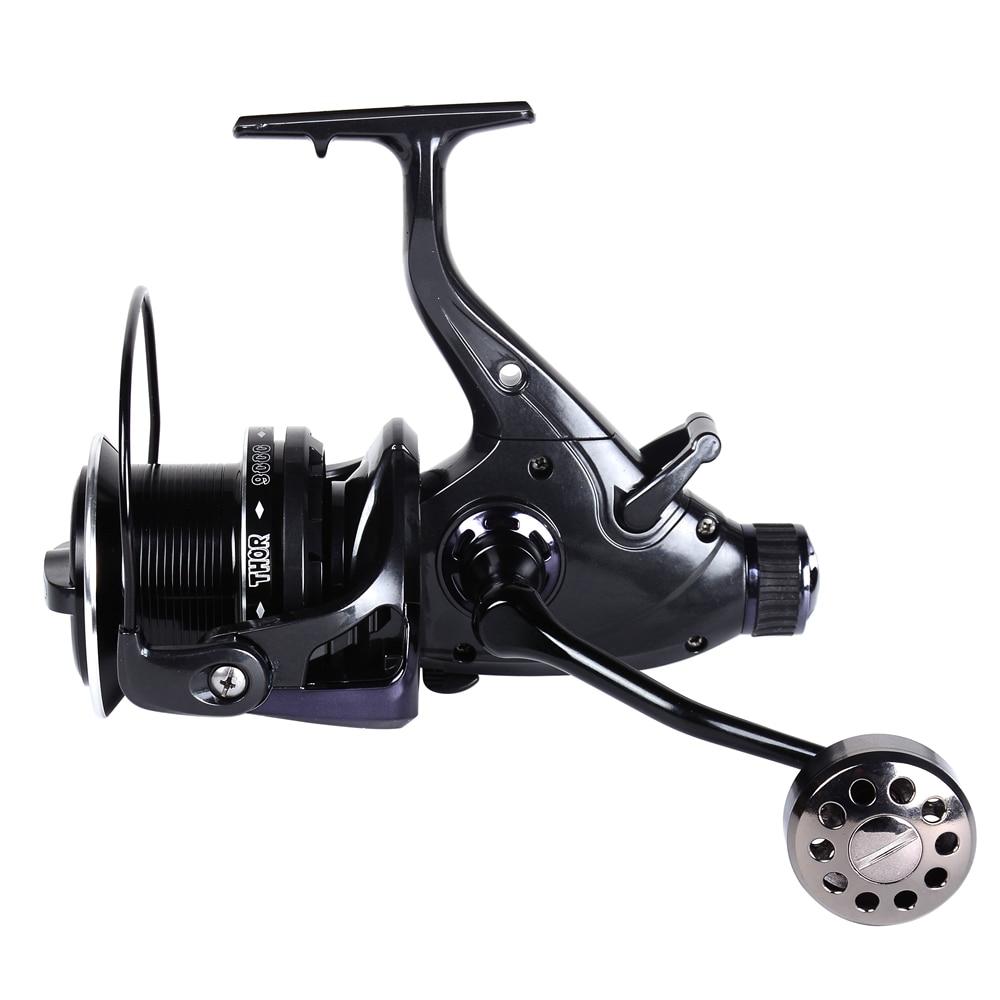 8000 10000 Series 4.1:1 13+1BB Carp Fishing Reel Baitrunner Spinning Reels Big Free Runner Double Brake Feeder for Saltwater-in Fishing Reels from Sports & Entertainment    1
