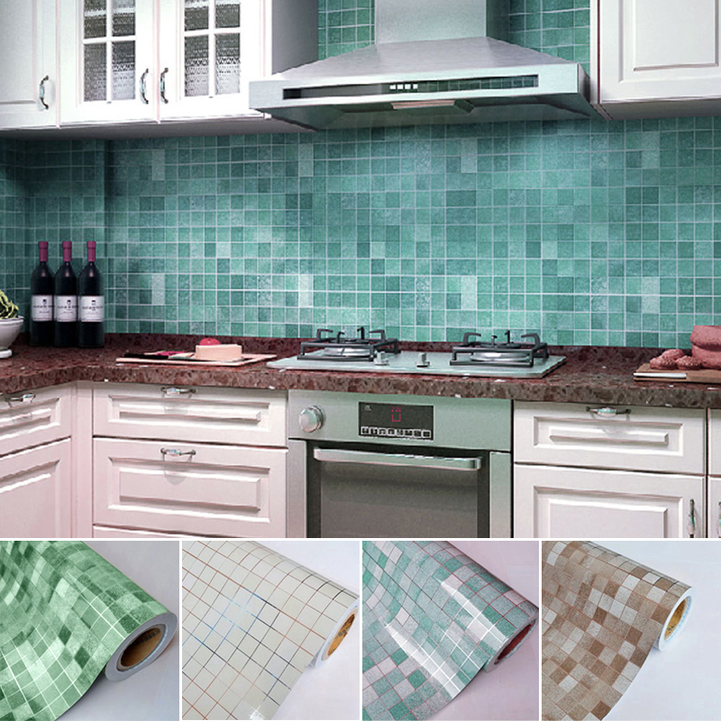 Jx Lclyl Waterproof Self Adhesive Mosaic Wall Paper Tile
