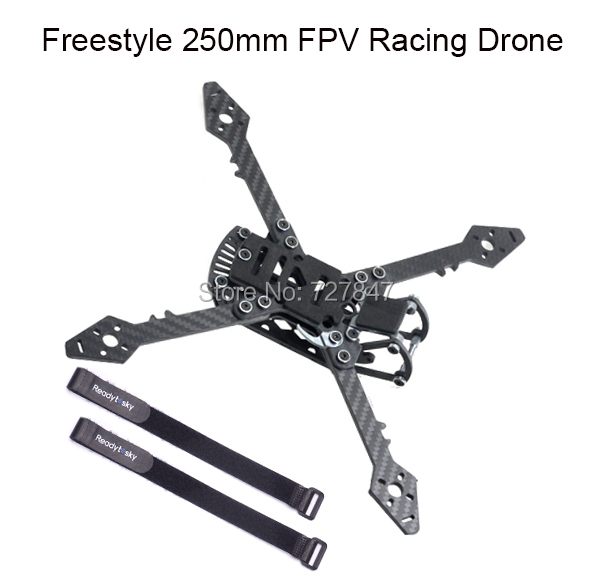 Freestyle Real3 250 250mm True X with 4mm Arm Carbon Fiber Frame Kit for RC Drone FPV Racing Multicopter better than QAV250 115g