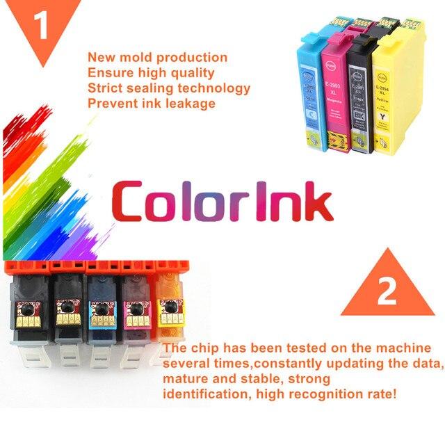 ColoInk 4Pack T502XL remplacement dencre pour Epson 502XL cartouche dencre pour Epson Expression maison XP-5100 XP-5105 2860DWF 2865D impression