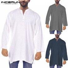 30ae36385d Vestido Plus tamaño 5XL de moda Kurta trajes islámica Kurta camisas traje  de manga larga vestido