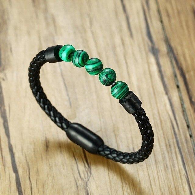 Bracelet Elastique Malachite