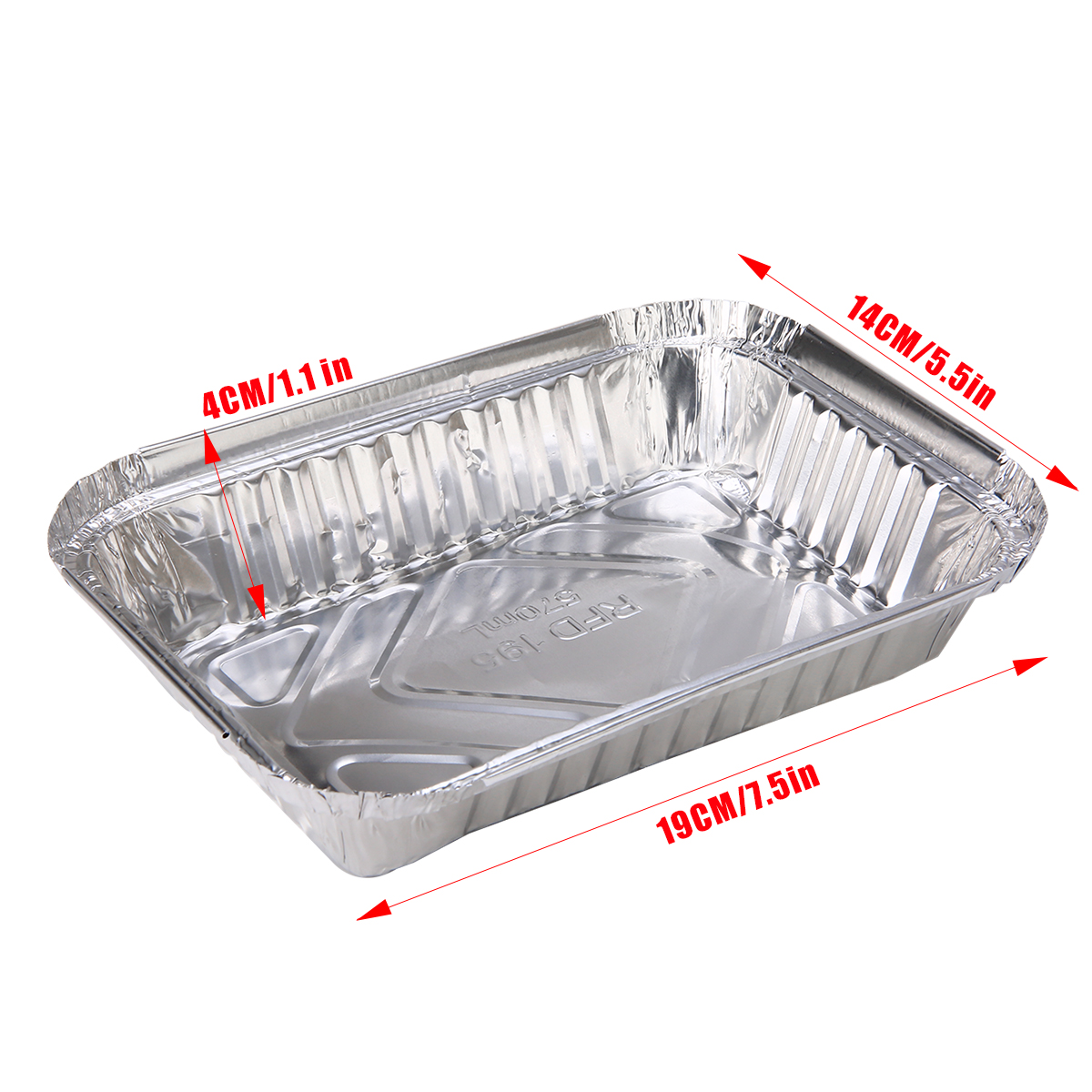 30pcs BBQ Aluminum Foil Grease Drip Pans Recyclable Grill Catch Tray Catch Pans Replacement Liner Trays For BBQ Tools in Pans from Home Garden