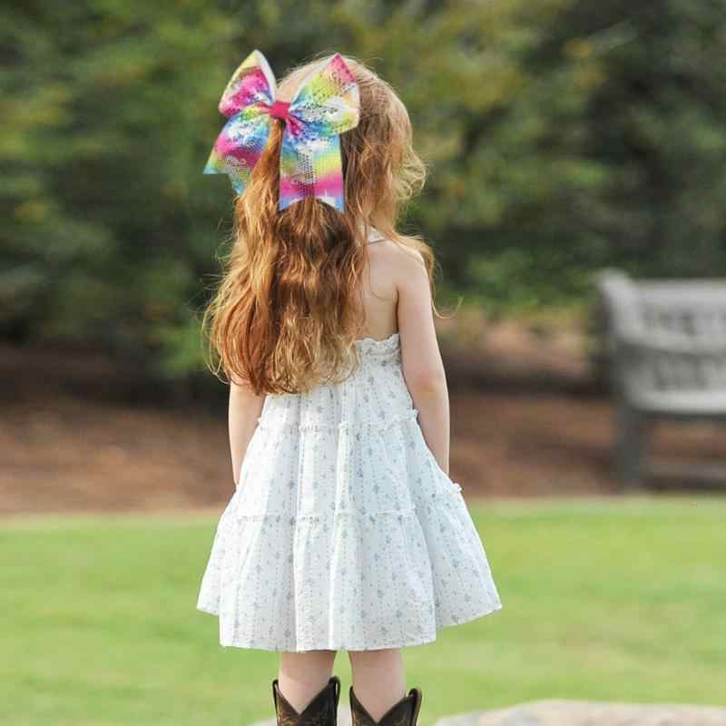1 шт., 20 см блестящие детские кольца с блестками для волос с большим ворсом для девочек, ленты с бантом, бесшовные кольца, головные уборы, резинка для хвостика для девочек