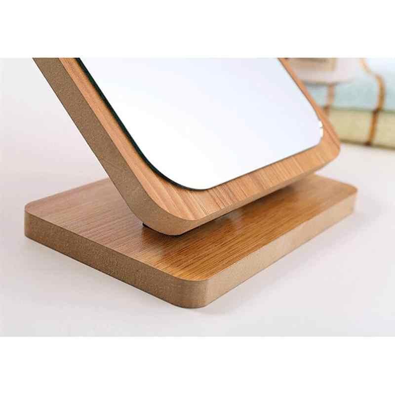 1 шт. настольное зеркало для макияжа деревянное складное зеркало Большой косметический макияж HD зеркало