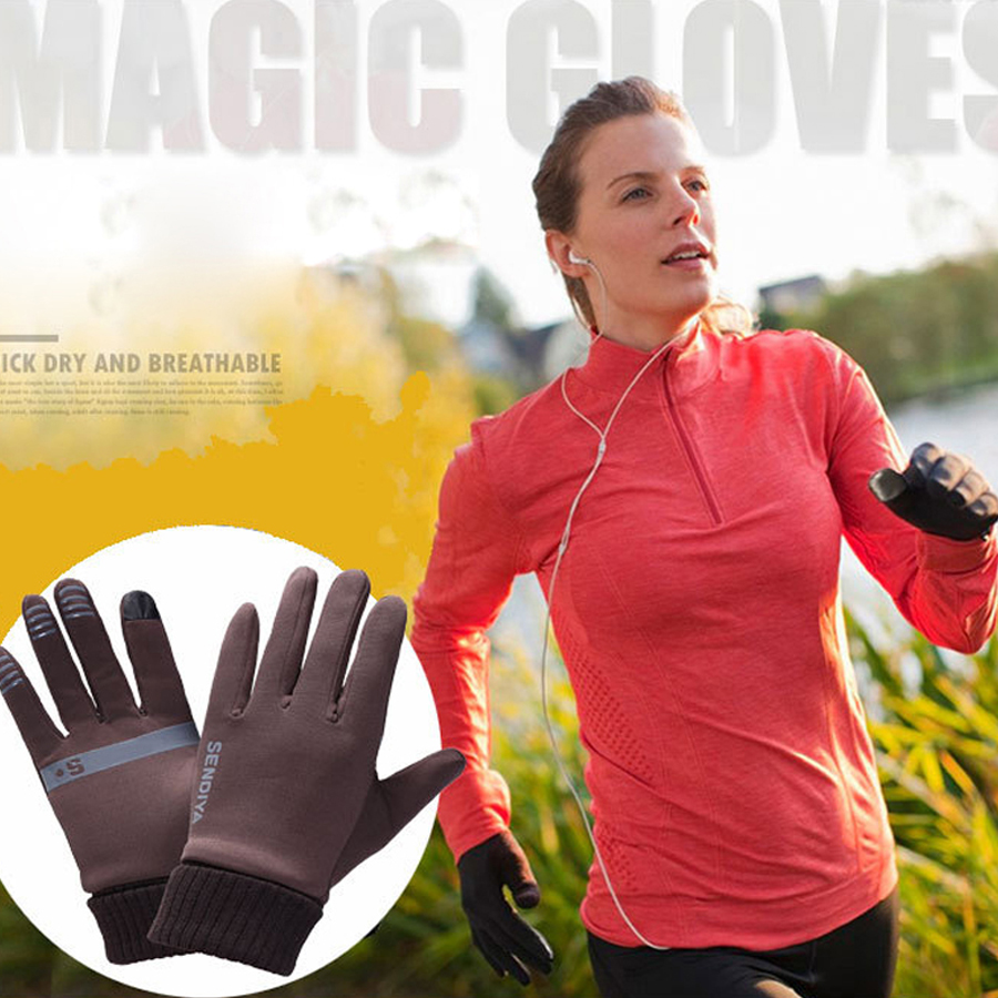 running gloves winter Men Women Outdoor Hiking Gloves Tounch Screen Wear-resistant Anti-skid Gloves Cycling Sports Gloves Mitten