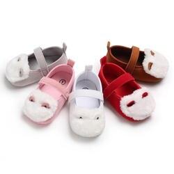 Обувь для новорожденных и маленьких детей, для девочек, для малышей, на мягкой подошве, с милым отворотом, для кроватки, для детей 0-18 месяцев