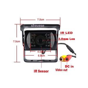 "Image 3 - 4x 18 IR Night Vision Car Reversing Parking Backup Camera + 9"" LCD 4CH Quad Split Monitor Car Rear View Kit for Bus Truck 12V 24"