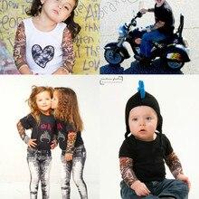 1 пара, рукава с татуировкой для рук, Солнцезащитный рукав для детей, ледяной шелк, летний рукав для мальчиков и девочек, защита от солнца, защита рук, манга, нарукавники