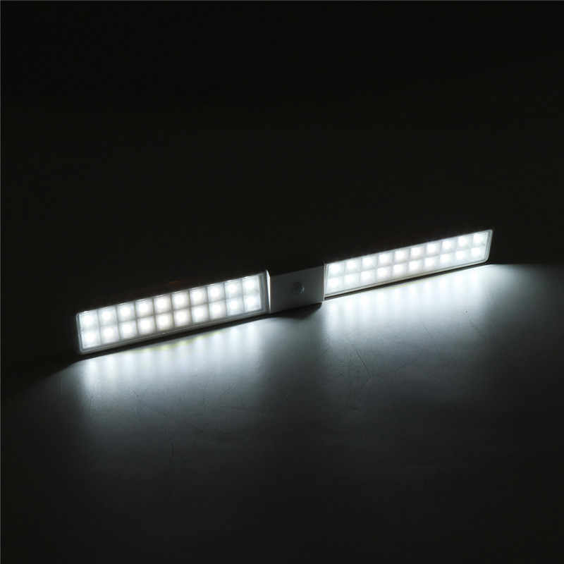 LED Di Bawah Kabinet Cahaya Tubuh Manusia Infrared Sensor Lampu 40 LED 410 Mm Pencahayaan untuk Lemari Pakaian Lemari Dapur Malam cahaya