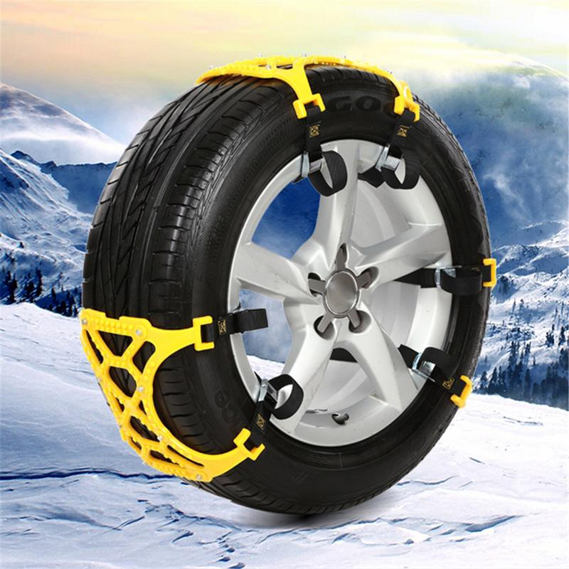 6pcs pack Universal Thicken Auto Car Snow Anti skid Chains Winter Snow Chains Vehicles Wheel Antiskid Non slipping Tire Chain in Snow Chains from Automobiles Motorcycles