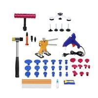 1 Set Dent Repair Tools Paintless Dent Repair Kit Tools Removal Tools Glue Gun Dent Lifter Remover for Car Repairing