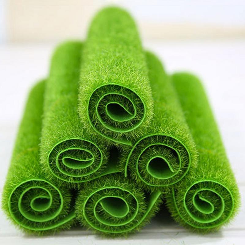 New 2 Size Micro Landscape Artificial Grass Landscape Home Accessories Aquarium Decor Artificial Lawn Garden Real Touch Moss