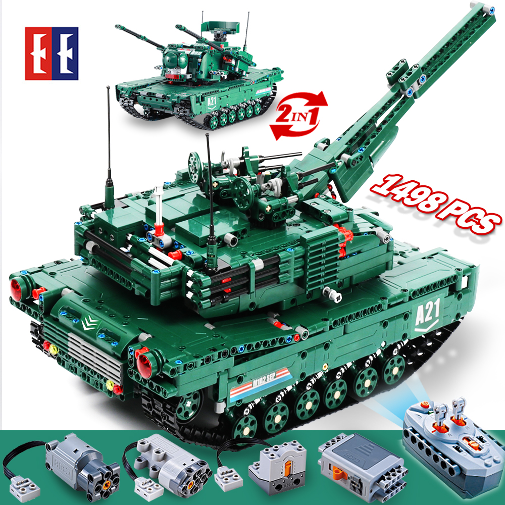cada rc Building Blocks tank toy ww2 Remote Control M1A2 RC Tank Wars Military Weapon Model