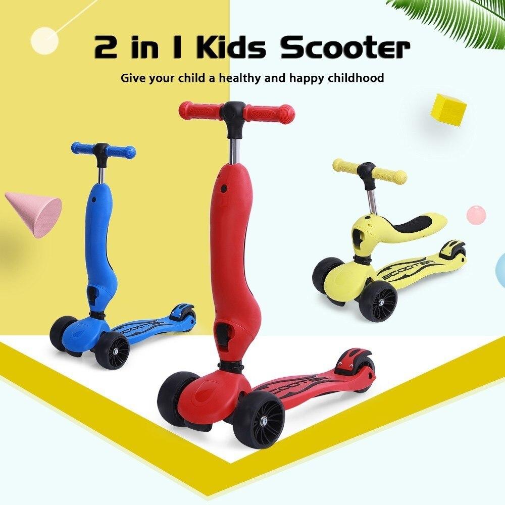 Enfants Scooter Tricycle bébé 2 en 1 Balance vélo monter sur des jouets avec siège amovible amusant exercice jouet pour enfants anniversaire cadeau de noël