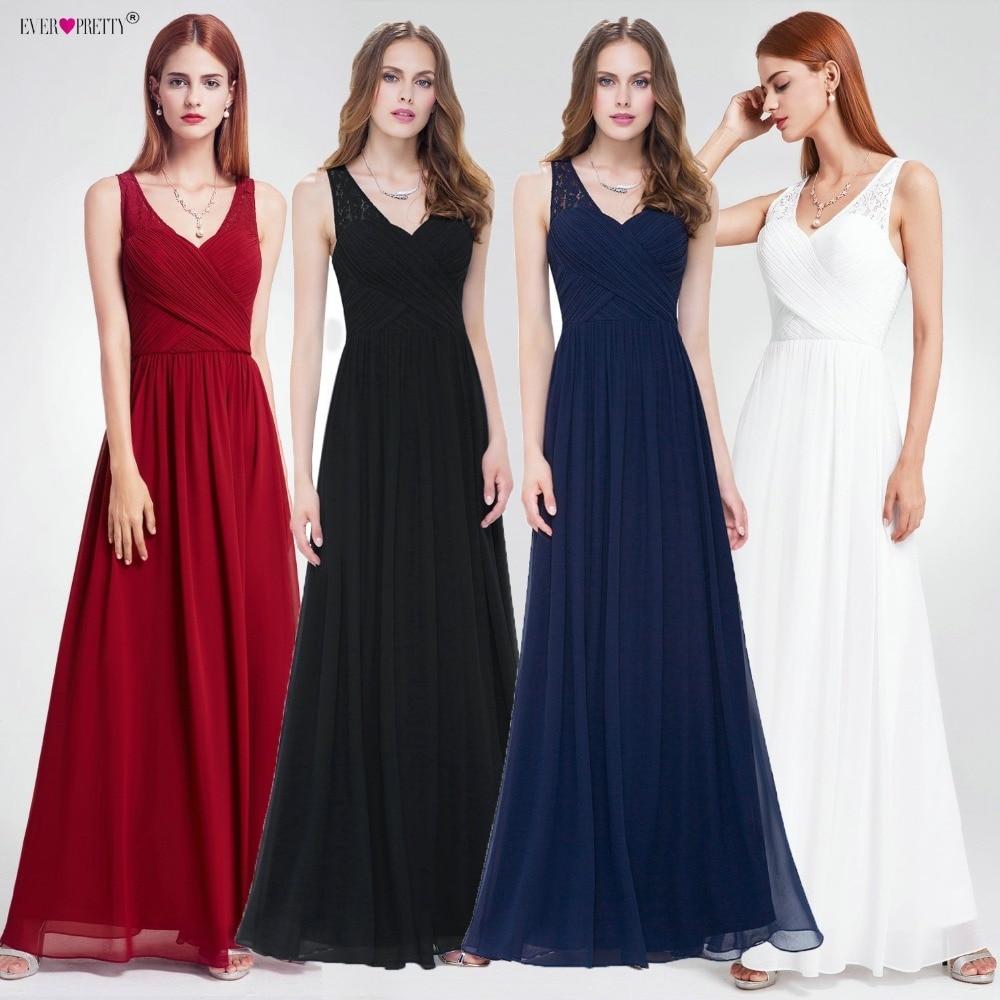 Burgundy Dress For Bridesmaid Ever Pretty Elegant A Line V Neck Lace Long Dress For Wedding Party For Woman Vestido Damas Honor