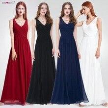 בורגונדי שמלת שושבינה אי פעם די אלגנטי קו V צוואר תחרה ארוך שמלה לחתונה מסיבת לאישה Vestido damas הכבוד