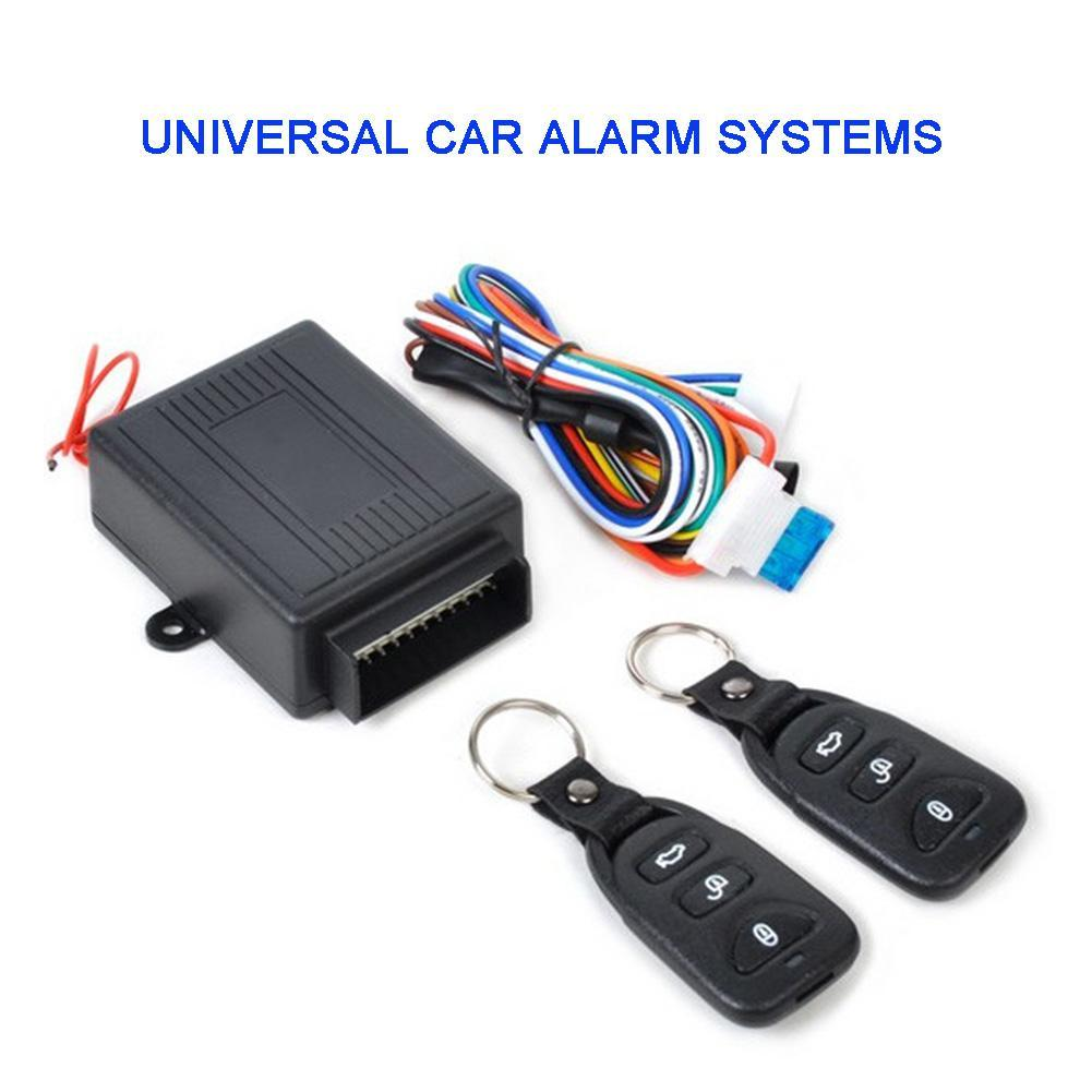Universal Alarm Systems Car Remote Central Kit Door Lock Locking Vehicle Keyless Entry System Power Window Roll Up Trunk Closer