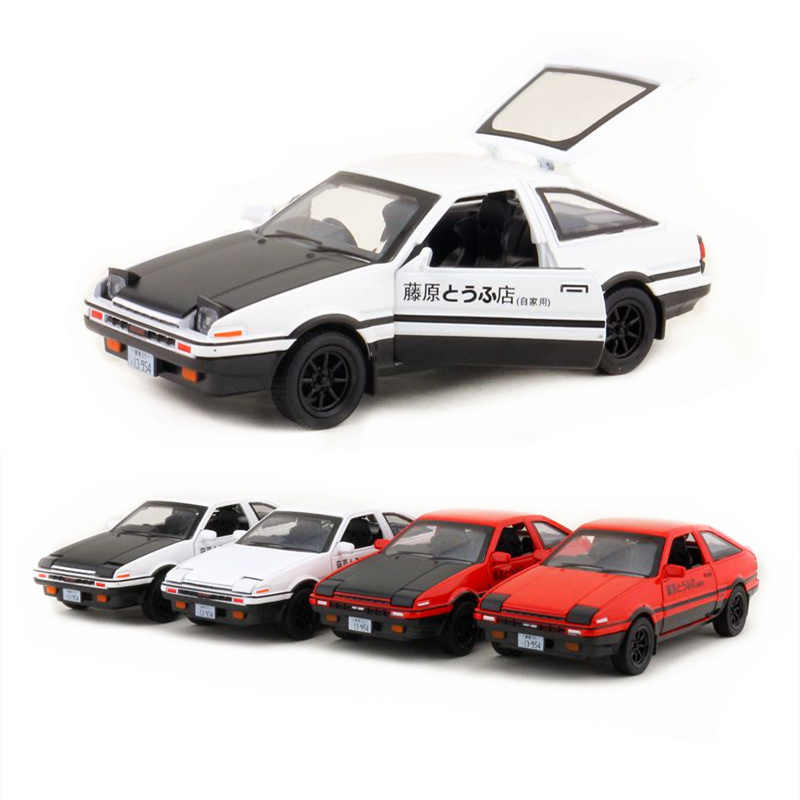 1:28/Simulation Diecast model/Initial D Toyota AE86 Car/have lighting & music/Toy for children's gift or collection/Pull back