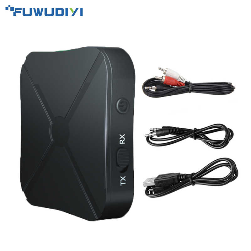 FUWUDIYI 2in1 Bluetooth Transmitter Receiver A2DP Bluetooth Transmitter Audio 4.2 Bluetooth Transmitter TV AUX Adapter for Car