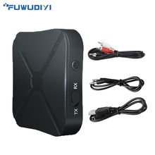FUWUDIYI 2in1 Bluetooth Transmitter Receiver A2DP Bluetooth Transmitter Audio 4.2 Bluetooth Transmitter TV AUX Adapter for Car ts bt35f03 bluetooth 3 0 audio transmitter black