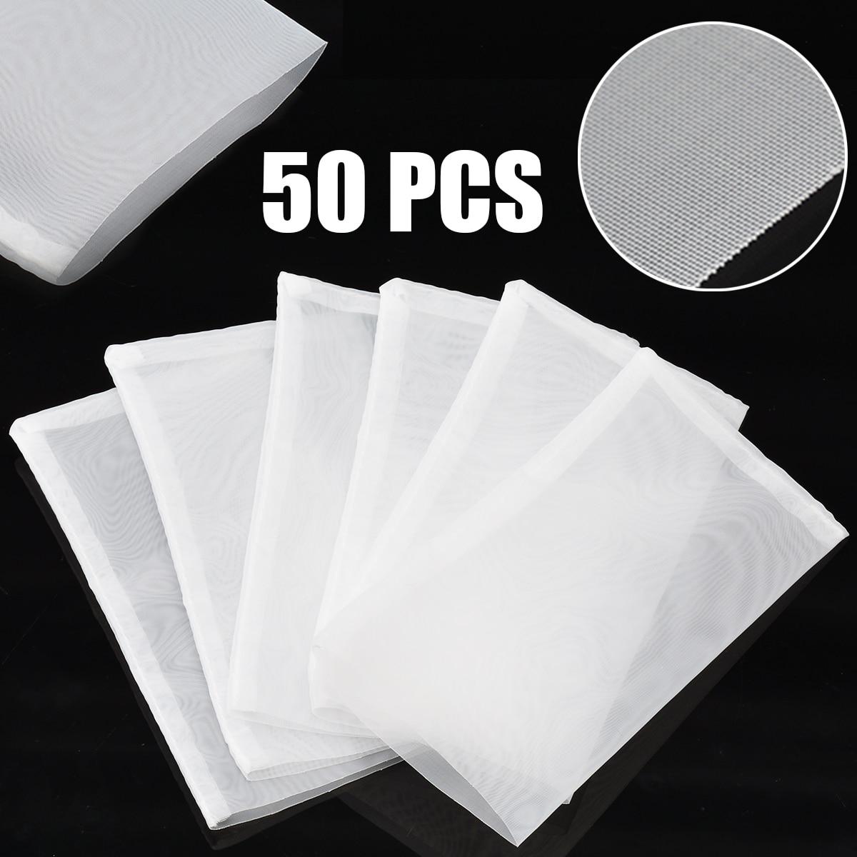 50pcs Reusable 120 Micron Rosin Tech Screen Bags Press Filter Tea Bags 6.2x11.3cm50pcs Reusable 120 Micron Rosin Tech Screen Bags Press Filter Tea Bags 6.2x11.3cm