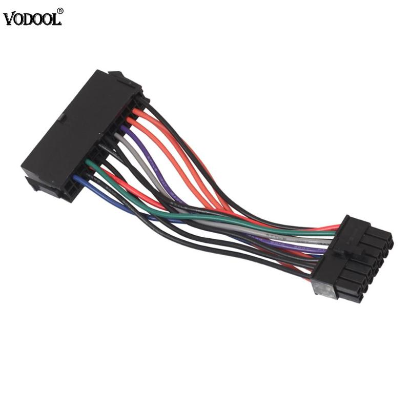 ATX <font><b>24pin</b></font> <font><b>to</b></font> <font><b>14pin</b></font> <font><b>Adapter</b></font> Power Cable Cord for Lenovo for IBM Q77 B75 A75 Q75 motherboard 18AWG High Quality Power Supply Cable image