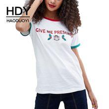 bf90f3e17ff HDY Haoduoyi verano imprimir camiseta de Color puro nueva chica Simple  Commuter Flash Impresión de Navidad día de manga corta