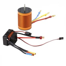 9T 4370KV Brushless Motor + 60A ESC Combo Set For 1/10 RC Car Model Remote Control Toys Parts Brushless Motor цена