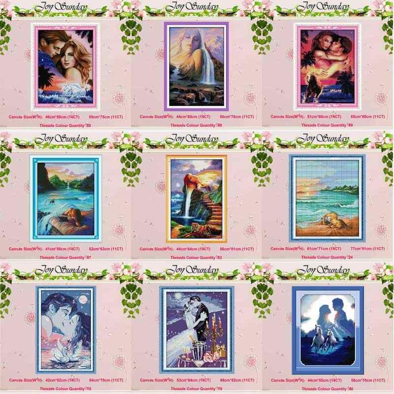 Miłośnicy kobiet malowanie haft krzyżykowy 11CT 14CT zestaw do haftu krzyżykowego hurtownia DIY zestaw do szycia haft robótki