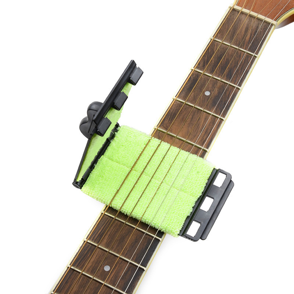 guitar string wiper washable electric guitar string cleaner bass strings scrubber rub cleaning. Black Bedroom Furniture Sets. Home Design Ideas