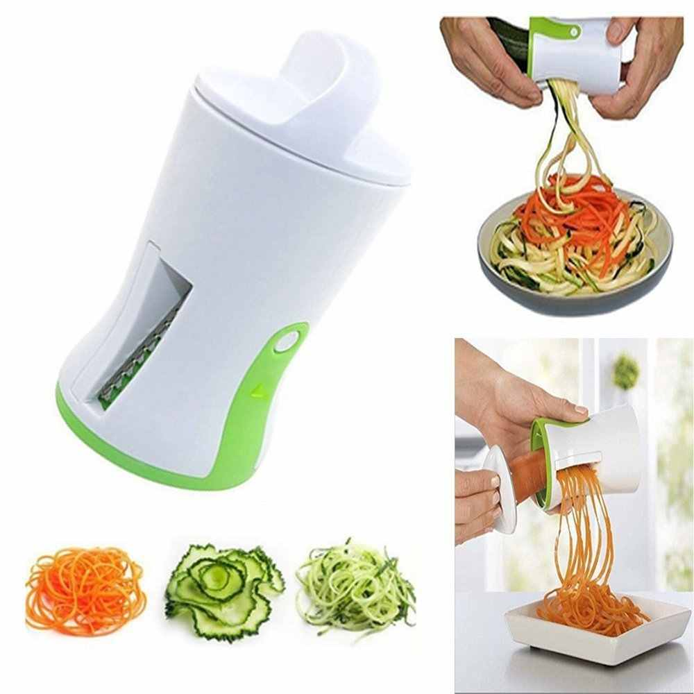 1 pc Spiral Funnel Vegetable Grater ABS Stainless Steel Carrot Cucumber Slicer Chopper Vegetable Spiral Blade Cutter