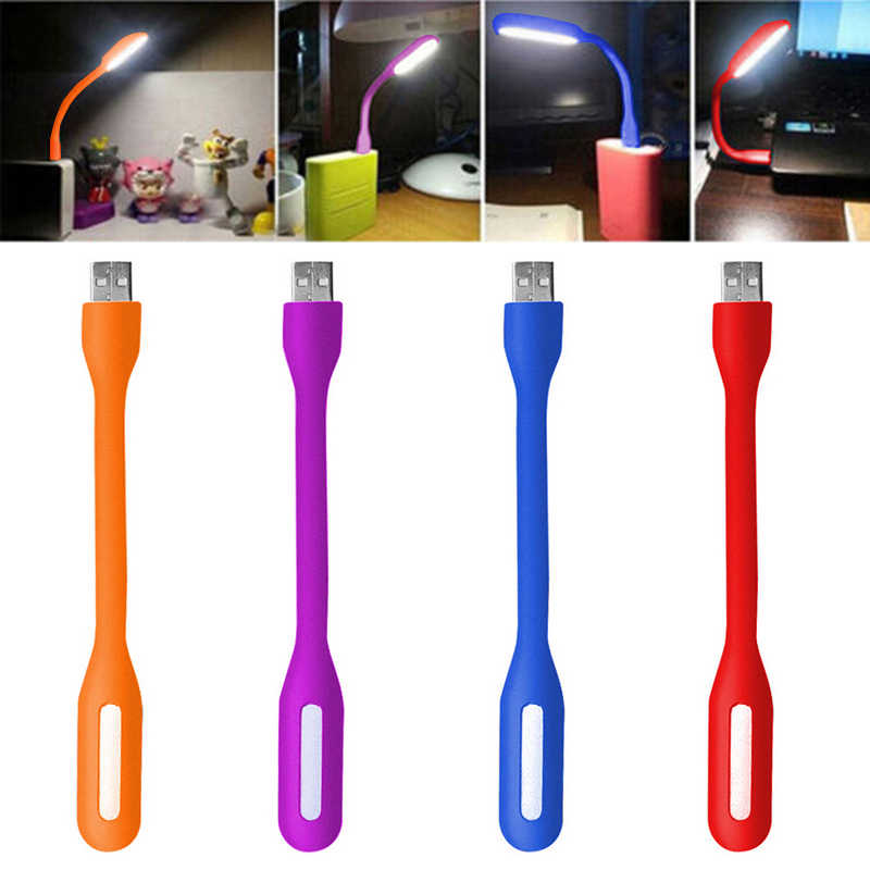 USB Book Light Mini LED Lamp Bendable Portable for Laptop Notebook PC Computer