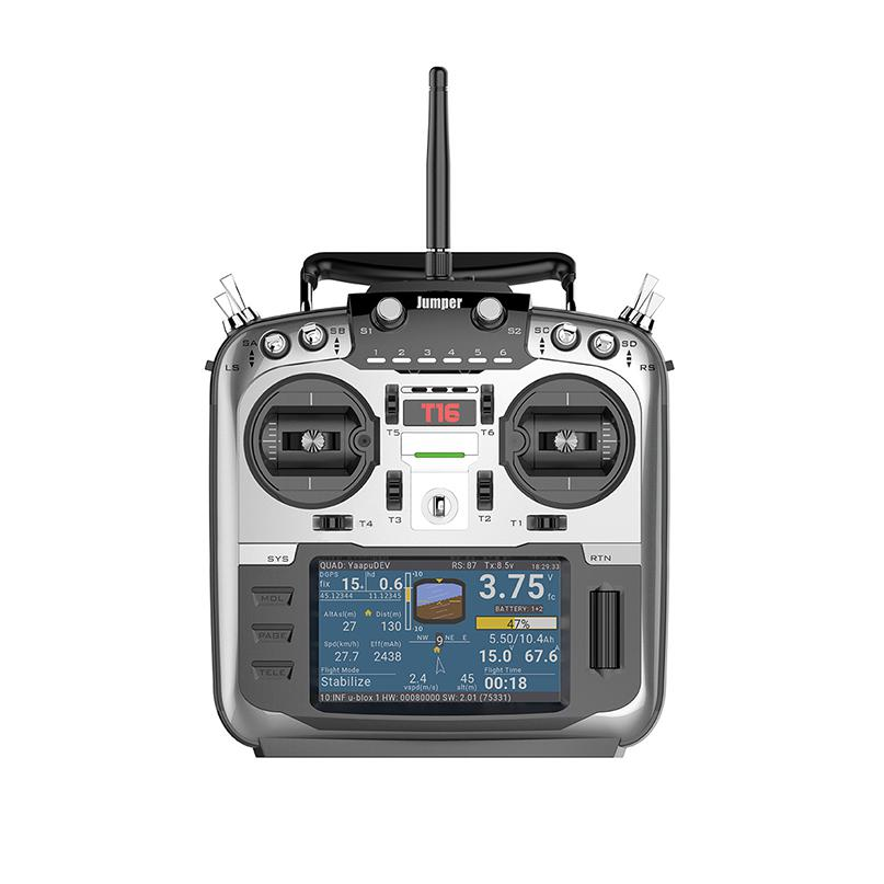 Jumper JP4-in-1 T16 Open Source Multi-protocolo de Rádio Transmissor RF Módulo 2.4G 16CH 4.3 polegada LCD para FPV corridas de Drone Aircraft