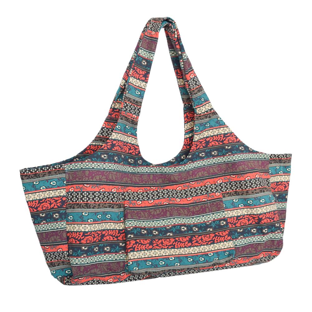 Big Large Capacity Travel Bag Bohemian Ethnic Vintage Style Print Canvas Yoga Bags For Women Ladies Weekend Outdoor Luggage Bag